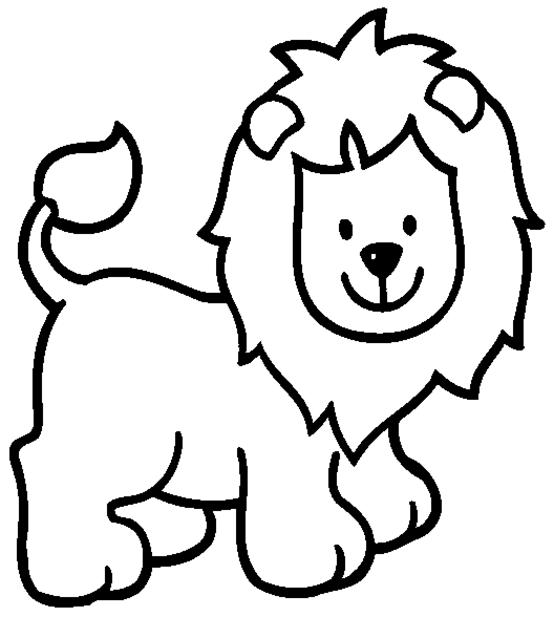 Dibujo para colorear León Animales