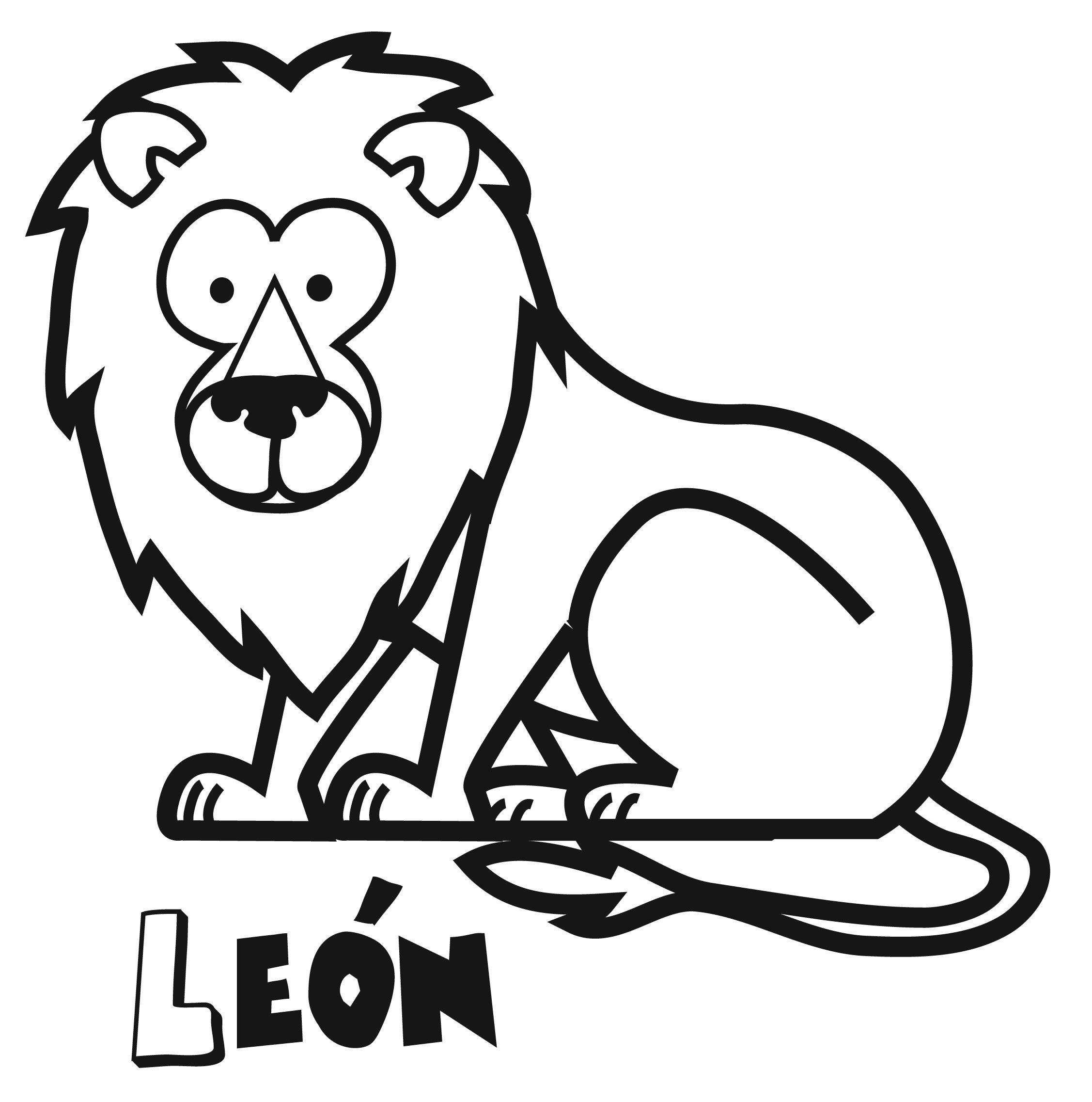 Dibujos de león para imprimir y colorear