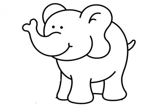 Elefante colorear Para mis hijos