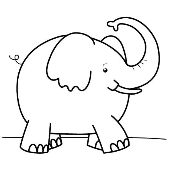 Elefante dibujo para colorear e imprimir