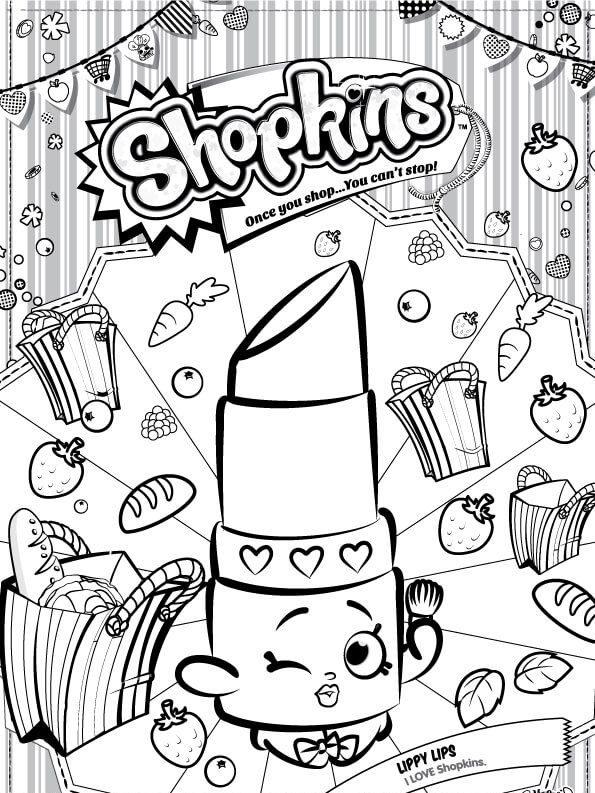Dibujos De Shopkins Para Colorear Dibujos Para Colorear