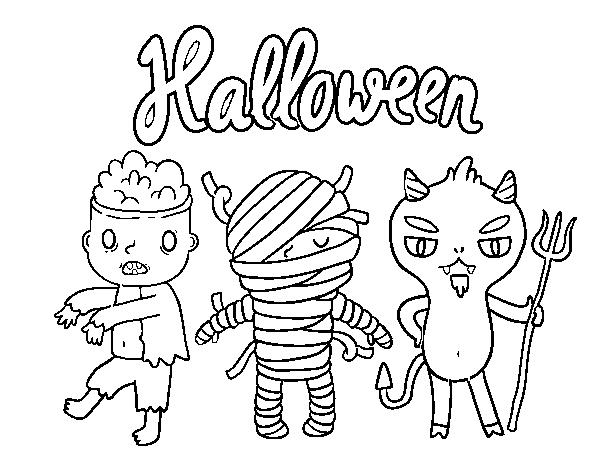 dibujos de halloween para colorear de brujas