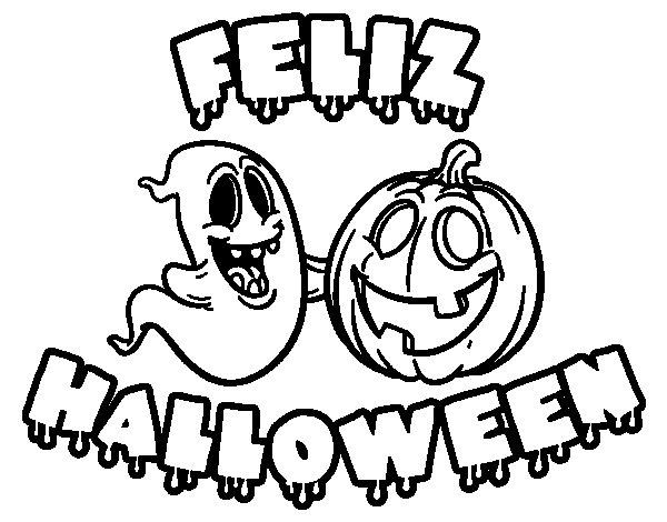 dibujos de halloween para colorear para niños