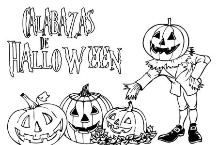dibujos de halloween para colorear que den miedo