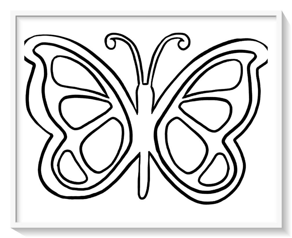 dibujos de mariposas faciles