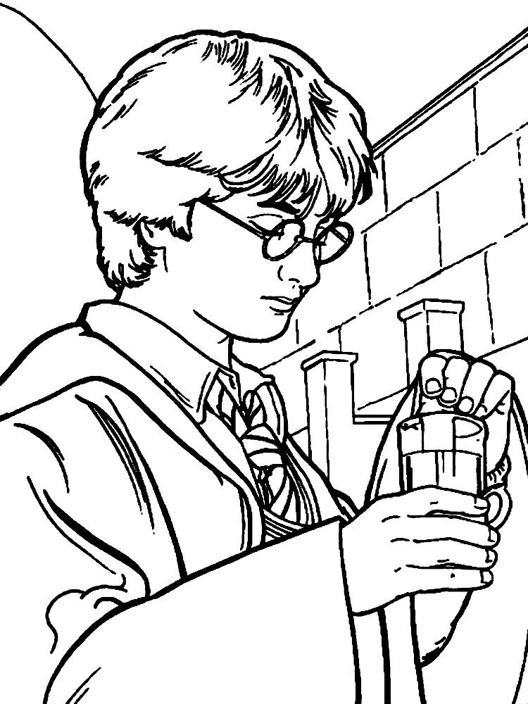 harry potter para colorear animado