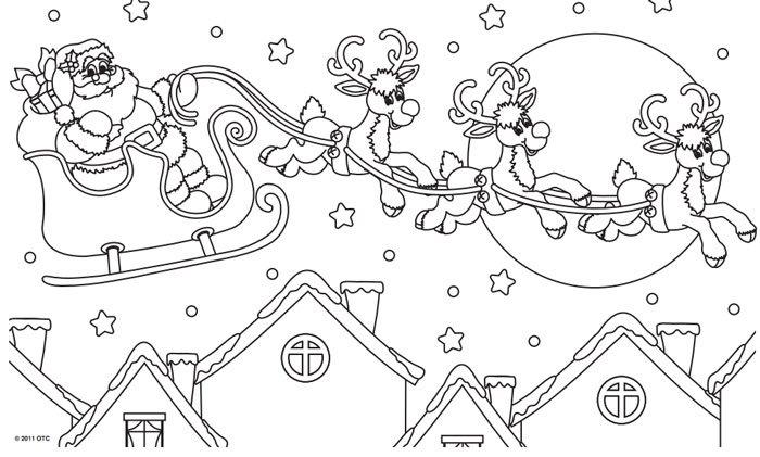 santa claus Navidad para imprimir y colorear