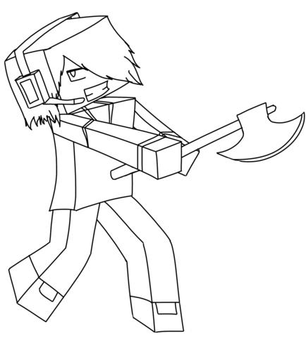 Deadlox de Minecraft Dibujo para colorear