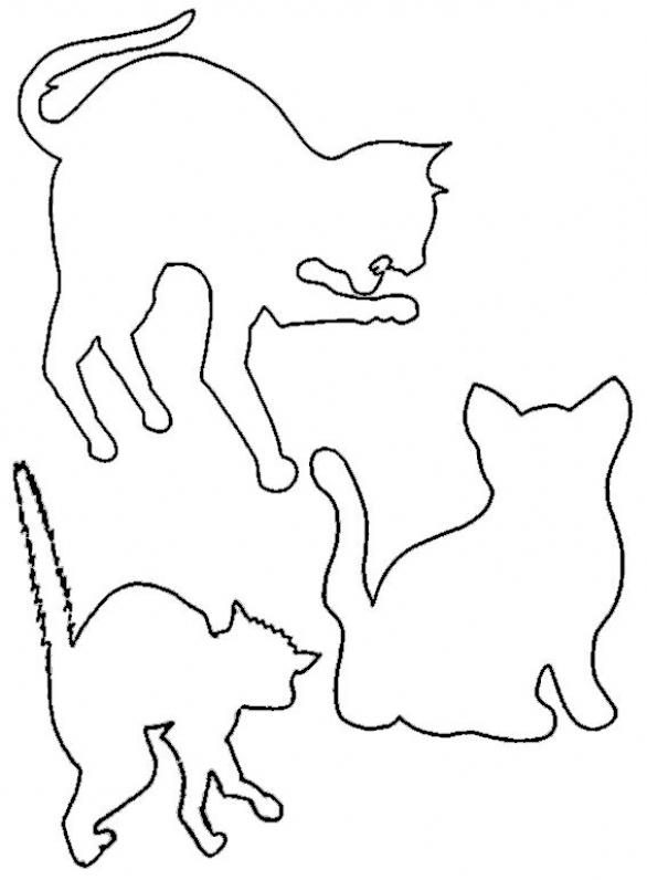Dibujo de Gato para Colorear e1541599016317