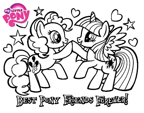 Dibujo de Mejores Pony Amigas para colorear my little pony 01