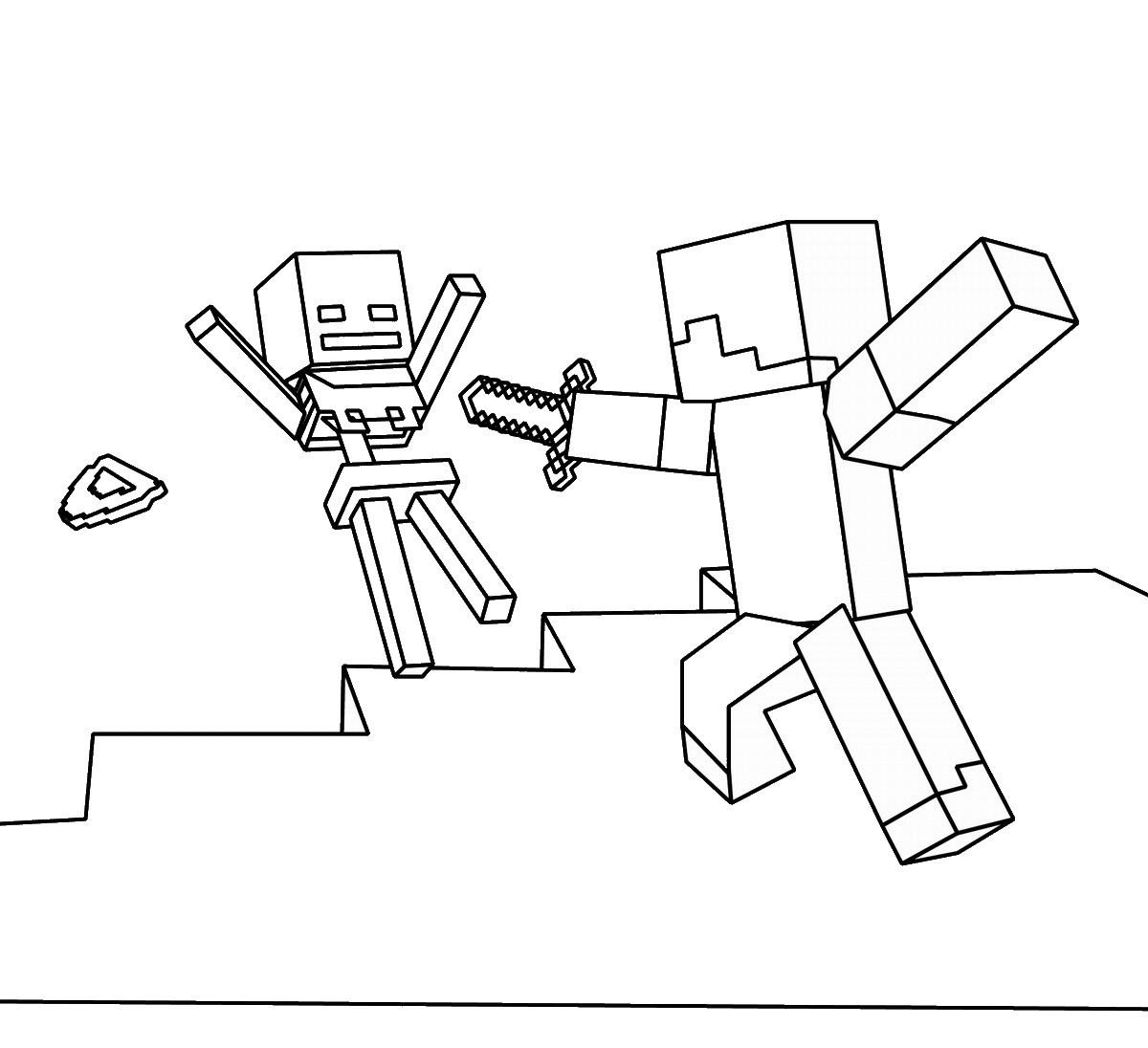 Dibujo para colorear Minecraft Páginas para colorear