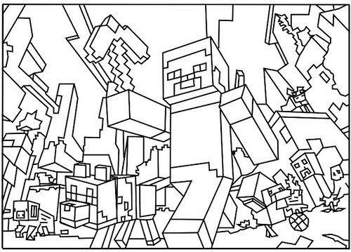 Dibujos de Minecraft para Coloreare