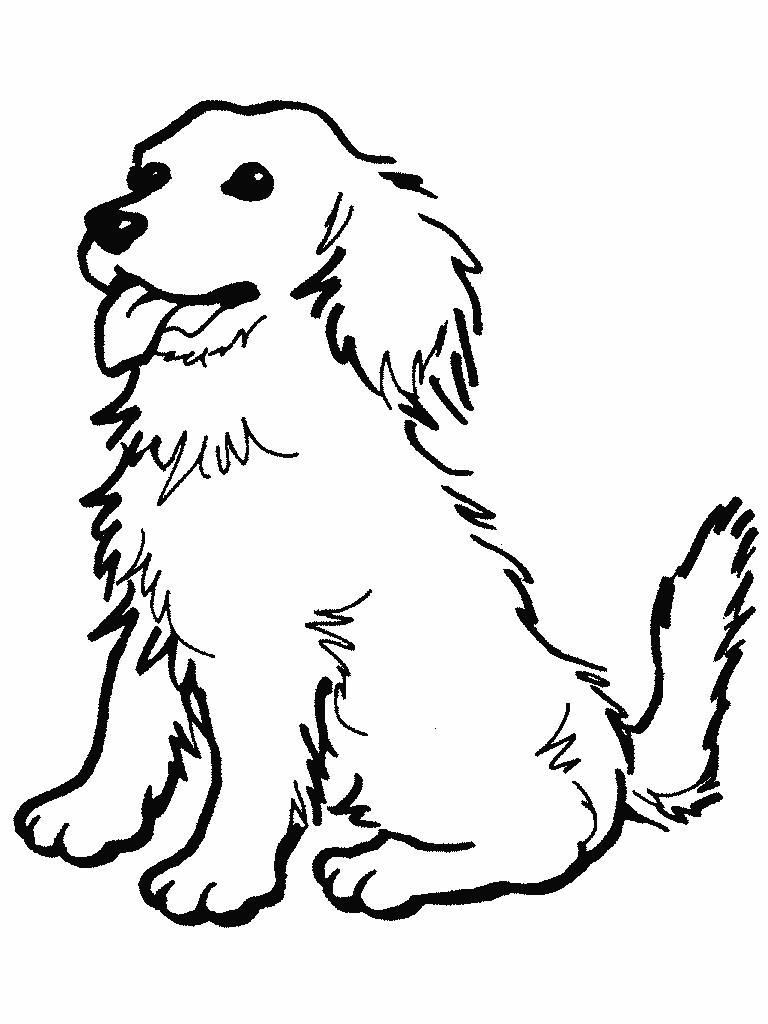 Dibujos de cachorros de perros para colorear y imprimir