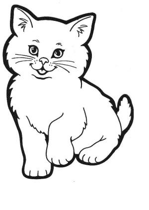 Dibujos de gatos para colorear e imprimir