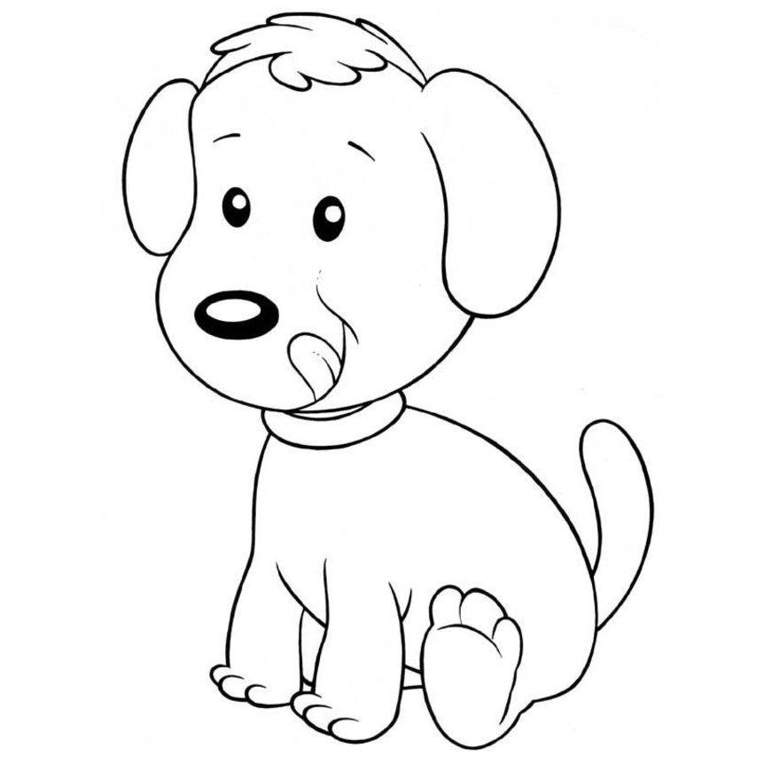 Dibujos de perros para pintar coloreartv