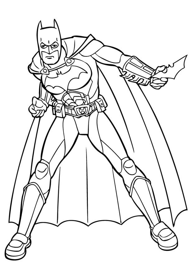 Dibujos para colorear batman listo para