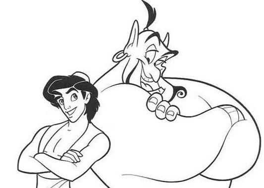 Dibujos para colorear de Aladdin