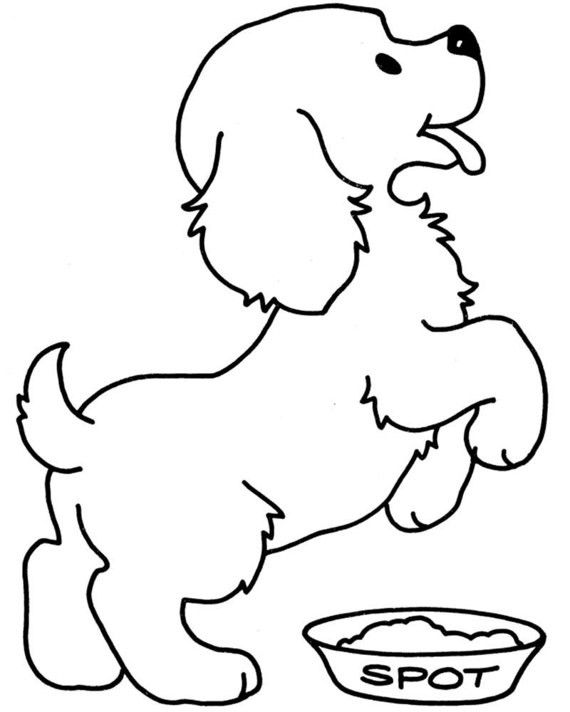 Dibujos para colorear de perros cachorros Dibujos para colorear de perros tiernos