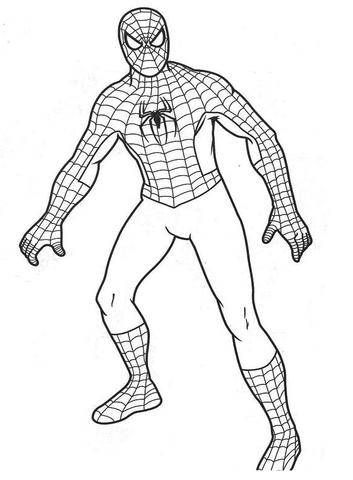 El Hombre Araña Dibujo para colorear