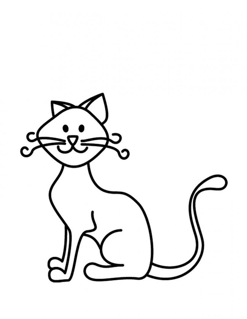 Gatito para colorear