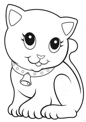 Los más tiernos dibujos de gato para colorear