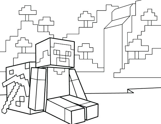 Espada De Minecraft Para Pintar