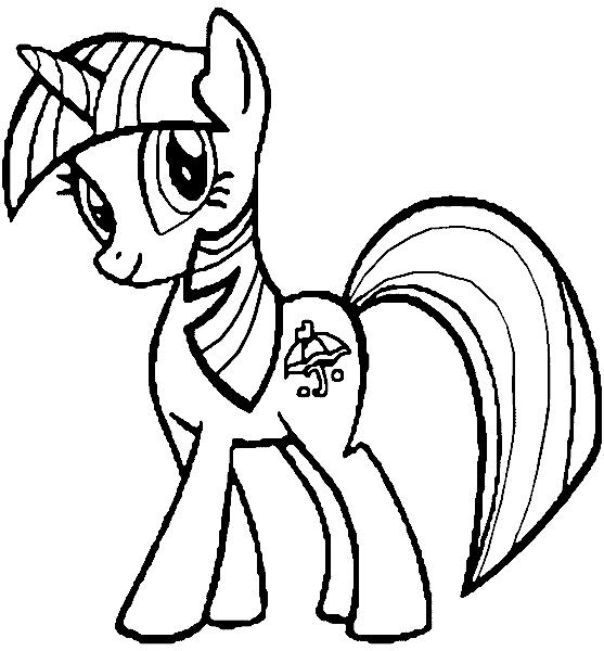 My Little Pony Páginas para Colorear 01
