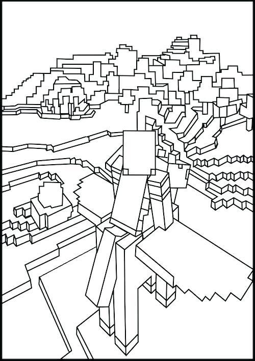 Steve De Minecraft Para Colorear 8981234k24