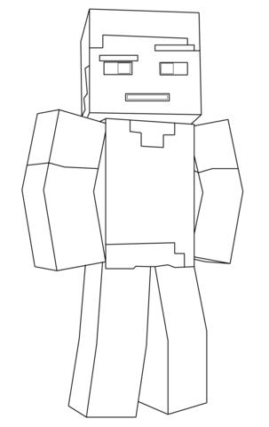 Steve de Minecraft Dibujo para colorear 8957239487534985