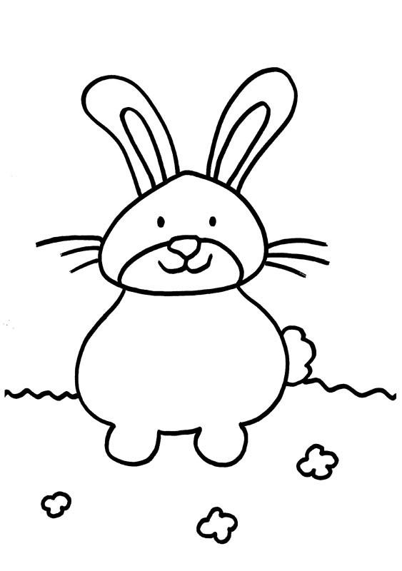 Un conejito dibujo para colorear e imprimir