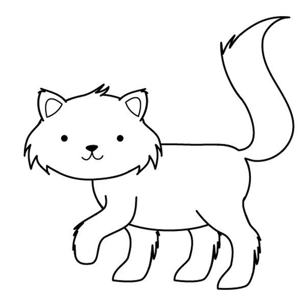 dibujos de gatos para colorear 01