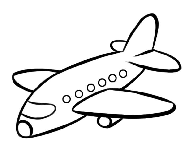 Avión de pasajeros Dibujos para colorear