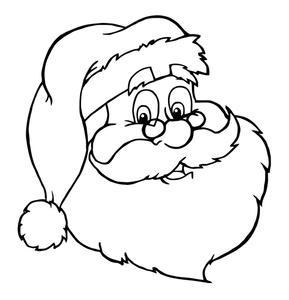 Cara de Papa Noel para colorear