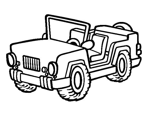 Dibujo De Jeep Para Colorear Dibujos Para Colorear Coloreartvcom
