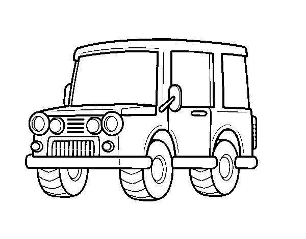 Dibujo de Jeep todoterreno para Colorear