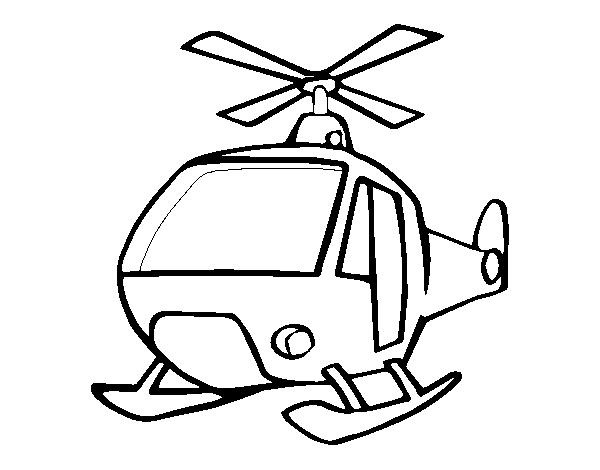 Dibujo de Un Helicóptero para Colorear 2847234