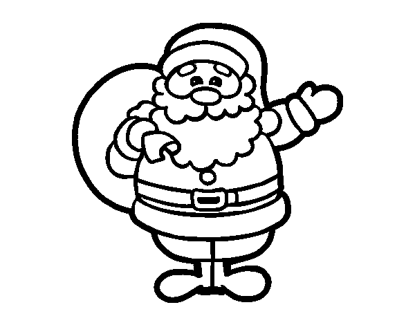 Papa Noel Dibujos Faciles Dibujos Para Colorear Coloreartvcom