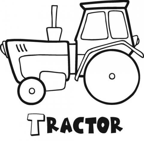Dibujos De Tractores Faciles Dibujos Para Colorear Coloreartvcom