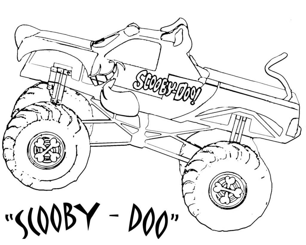 Dibujo para colorear Monster Truck Scooby Doo Páginas para colorear
