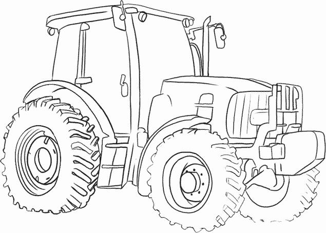 Dibujo para colorear Tractor Páginas para colorear 138123819273
