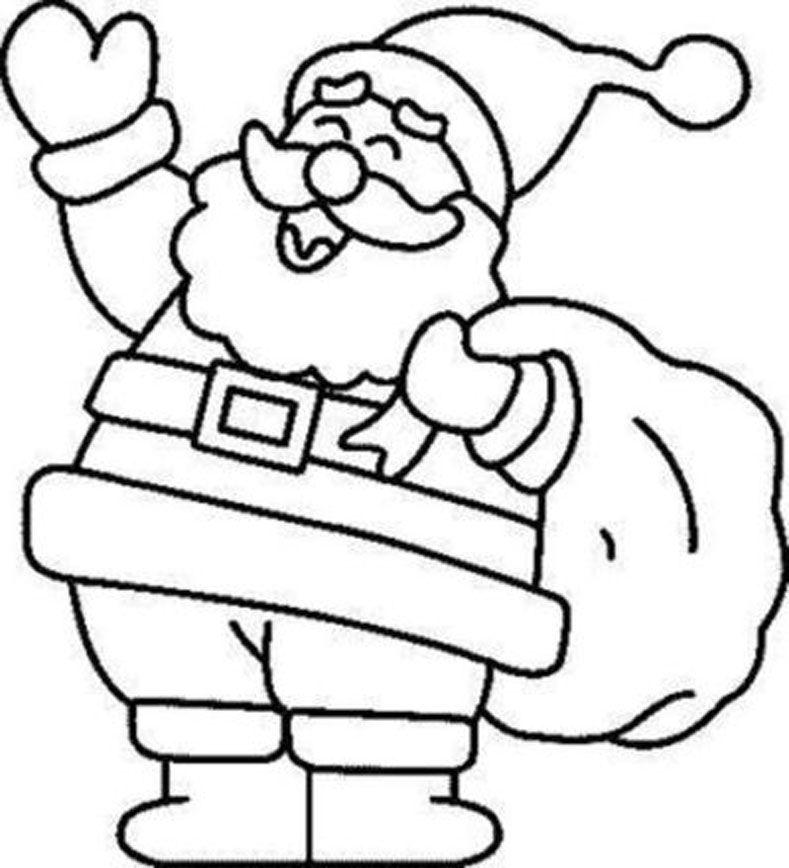 Dibujos Para Pintar De Navidad papa noel