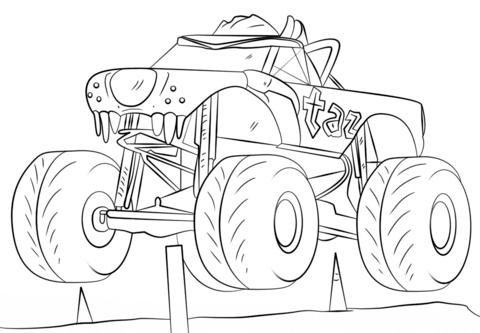 Dibujos de Monster Truck para colorear Páginas para imprimir y colorear gratis