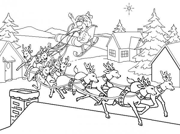 Dibujos de Papa Noel para colorear 01