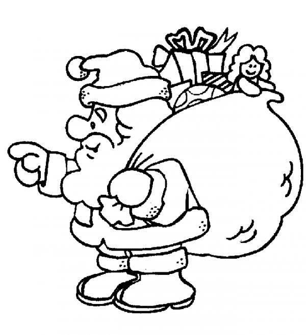 Dibujos de Papa Noel para colorear para pintar
