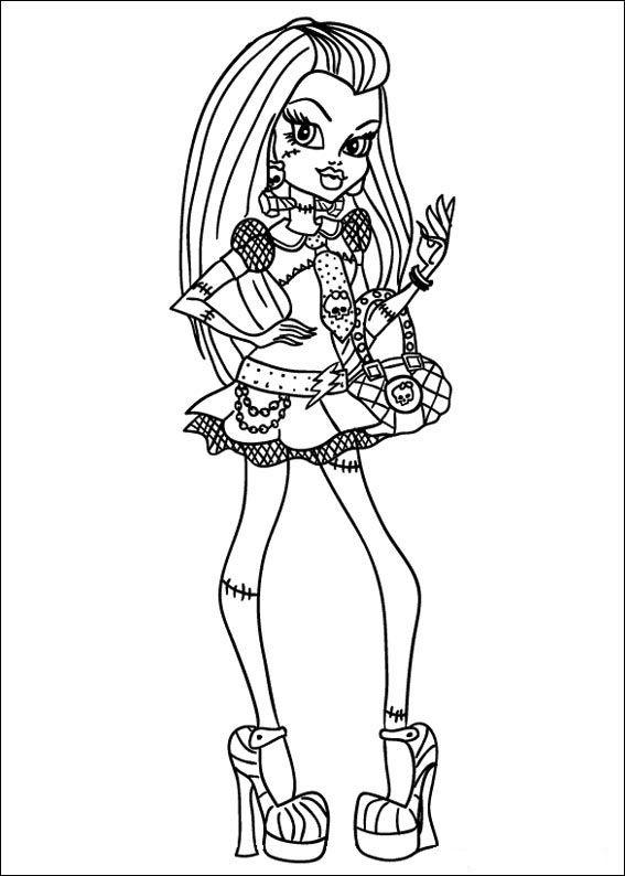 Dibujos para Colorear. Dibujos para Pintar. Dibujos para imprimir y colorear online. Monster High 10