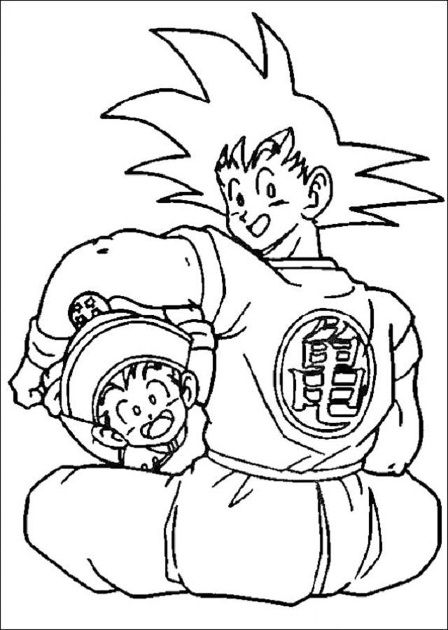 Dibujos para pintar de Dragon Ball
