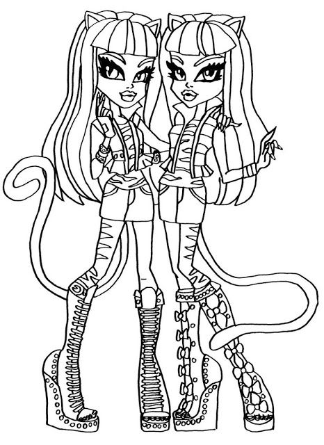 Dibujos y Plantillas para imprimir Monster High