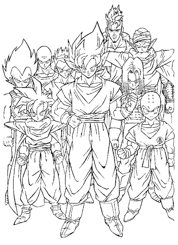 Dragon Ball Z Imagenes para Colorear