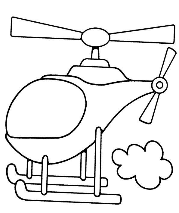 Helicóptero Figuras Para Colorear 1239139823
