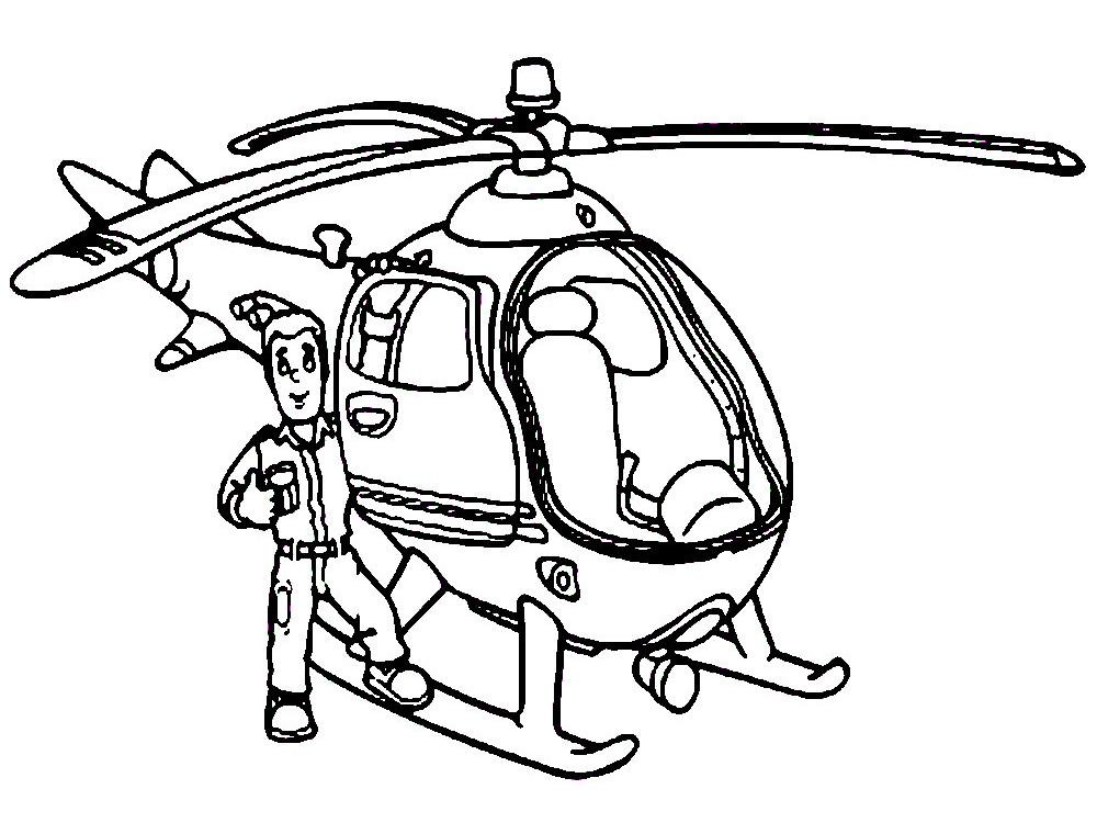 Helicoptero descargar gratis dibujos para colorear